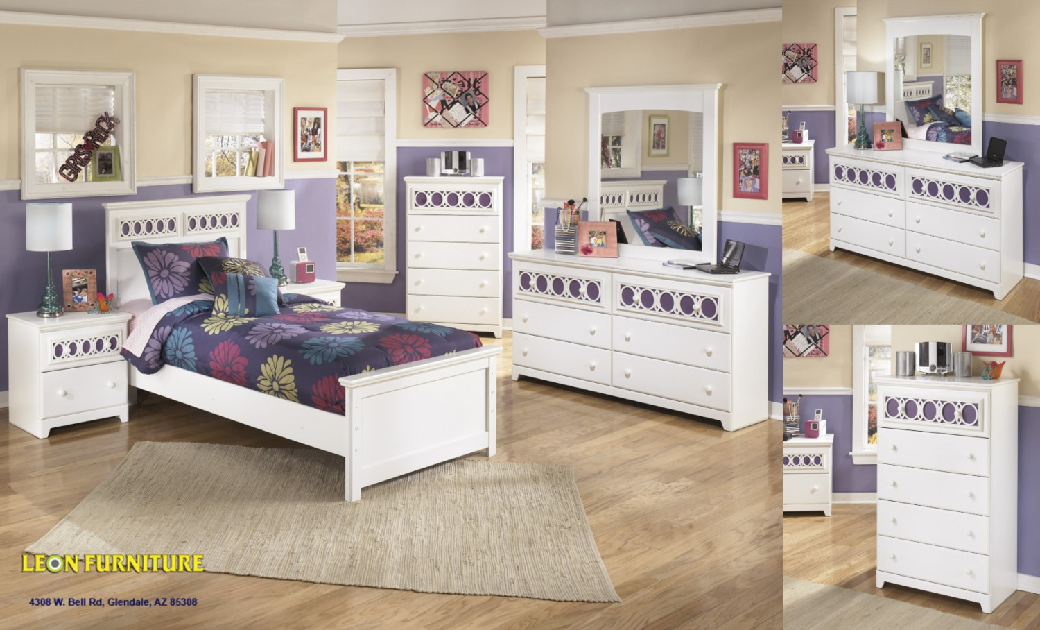 Zayley White 5pc Kids Bedroom Furniture Set | Visual.ly