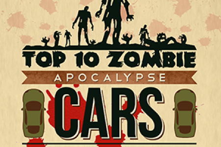 Zombie Apocalypse Cars in Movies - Top 10 Infographic