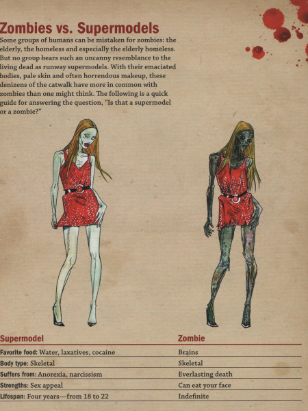 Zombies Vs. Supermodels  Infographic