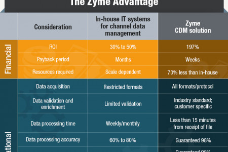 Zyme Channel Data Management Solutions - Build Vs. Buy Infographic